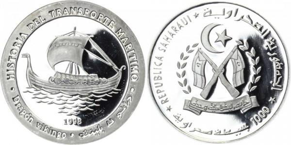 REPUBLIK SAHARA 1000 Pesetas 1998 - Geschichte der Handelsschiffahrt