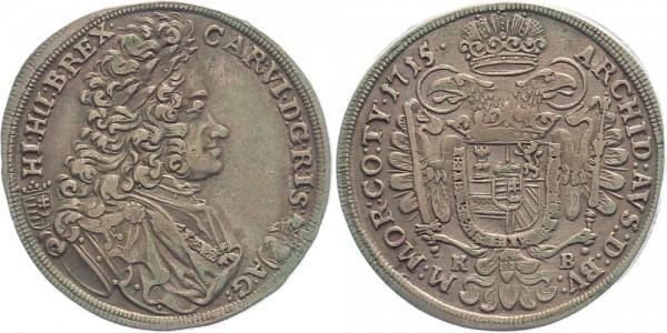 RDR 1/2 Taler 1715 KB, Kremnitz Karl VI.