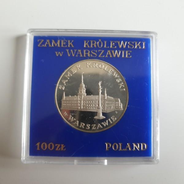 Polen 100 Zloty 1975 Königsschloss mit Sigismundsäule Warschau PP