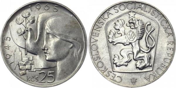 CSSR 25 Kč 1965 - 20 J. Befreiung Deutschlands