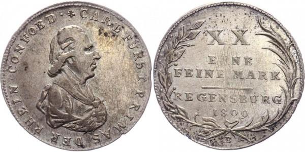 Regensburg 1/2 Taler 1809 Carl Theodor von Dalberg ( 1804 - 1810 )