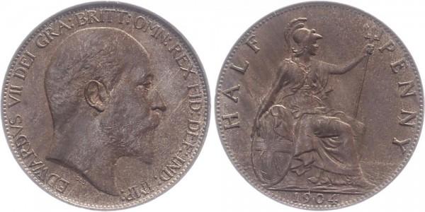 England 1/2 Penny 1904 - Edward VII.
