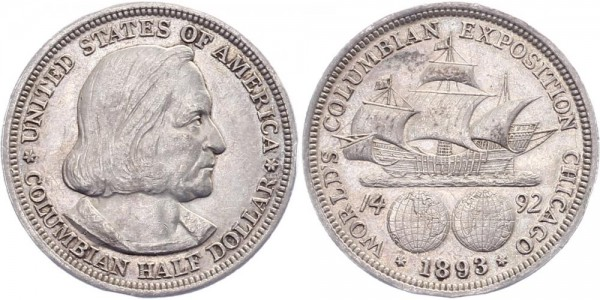 USA Half Dollar 1893 - Columbia Expo