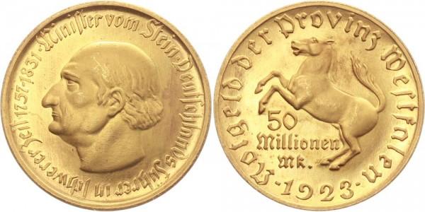 Westfalen 50 000 000 Mark 1923 - Freiherr von Stein