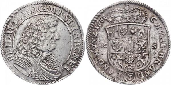 Bradenburg-Preußen ⅔ Taler 1688 - Friedrich Wilhelm
