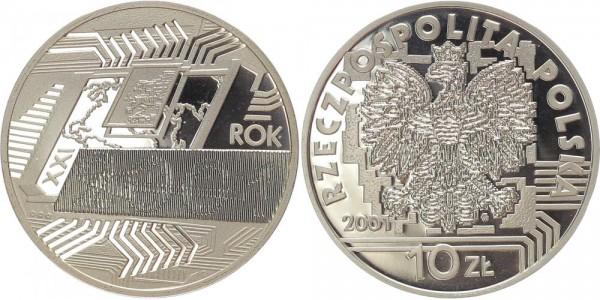 Polen 10 Zloty 2001 - Jahrtausendwende