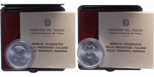 Italien 500 Lire 1990 - Italienische Präsidentschaft im Europäischen Rat