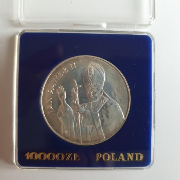 Polen 10000 Zloty 1987 Papst Johannes Paul II. stgl