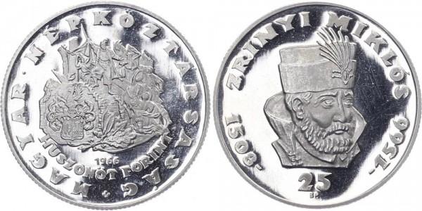 Ungarn 25 Forint 1966 Budapest Zrinyi Miklos