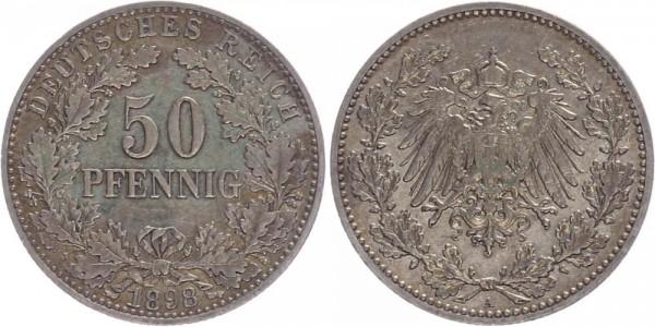 Kaiserreich 50 Pfennig 1898 A Kursmünze