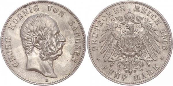 Sachsen 5 Mark 1903 E Georg I.