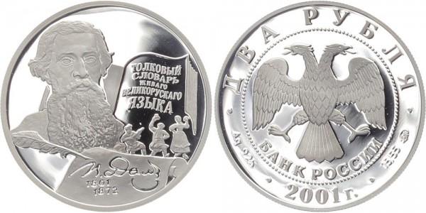 Russland 2 Rubel 2001 - V.I. Dal
