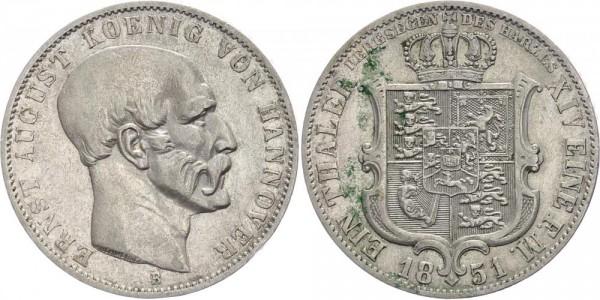 Braunschweig-Lüneburg-Calenberg-Hannover Taler (Bergbau) 1851 B Ernst August 1837-1851