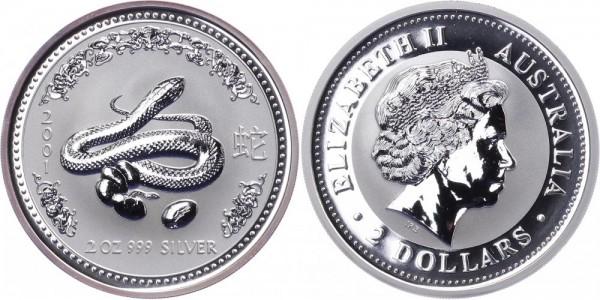 Australien 2 Dollars 2001 - Jahr der Schlange