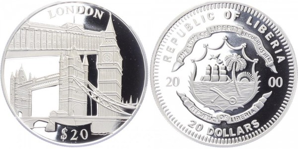 Liberia 20 Dollar 2000 - London