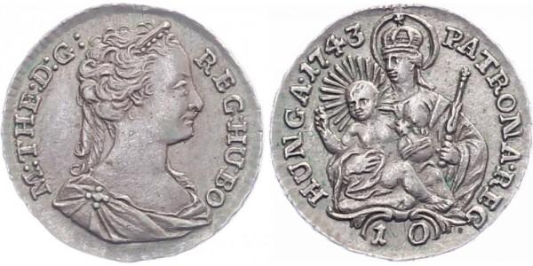 Ungarn 10 Denare 1743 - Kursmünze