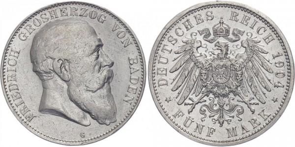 Baden 5 Mark 1904 - Friedrich Großherzog