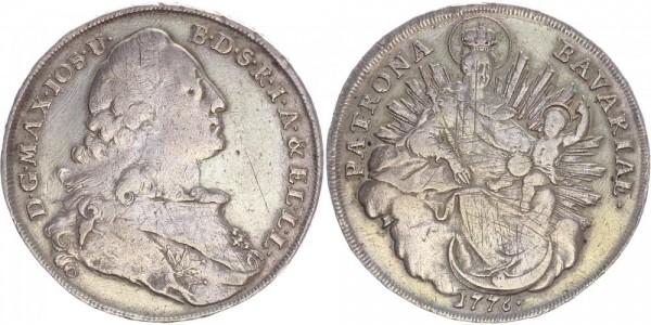 Bayern Taler 1776 - Madonnentaler, Max Joseph III.