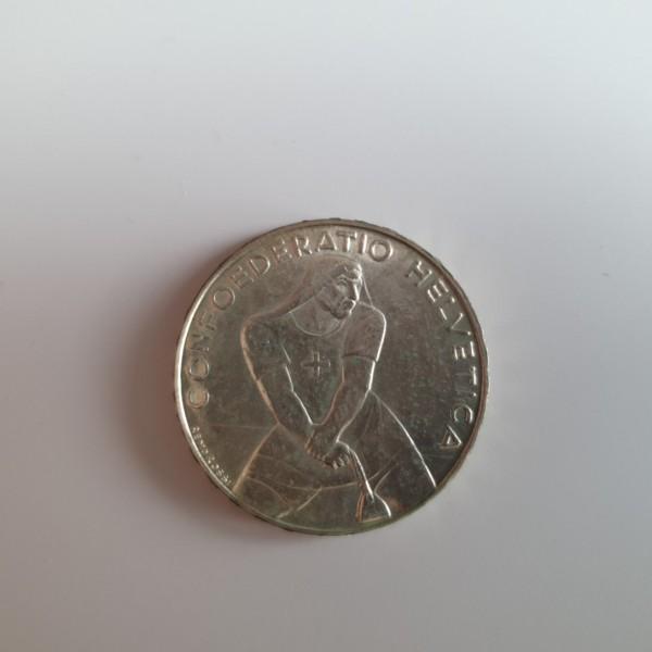 Schweiz 5 Franken 1939 B 600. Jahrestag der Schlacht bei Laupen