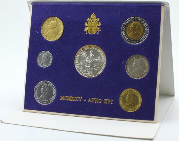 Vatikan 1800 Lire 1994 - Kursmünzensatz