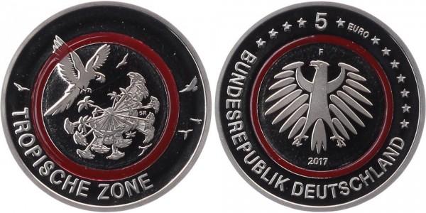 Deutschland 5 Euro 2017 PP Stuttgart Tropische Zone