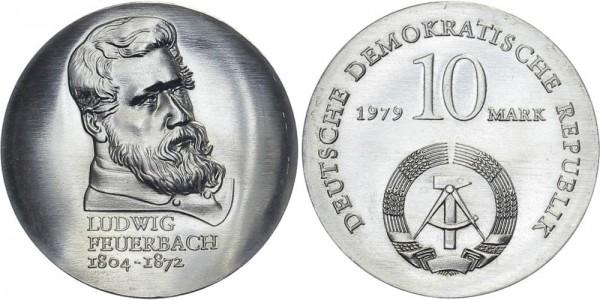 DDR 10 Mark 1979 A Feuerbach