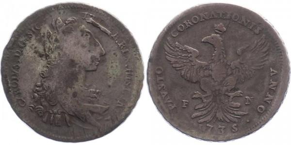 Italien 12 Tari 1735 Palermo Carl III. di Borbone