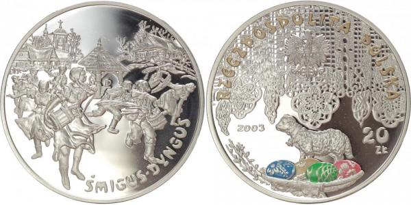 Polen 20 Zloty 2003 - Osterfest