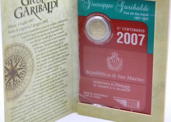 San Marino 2 Euro 2007 Guiseppe Garibaldi