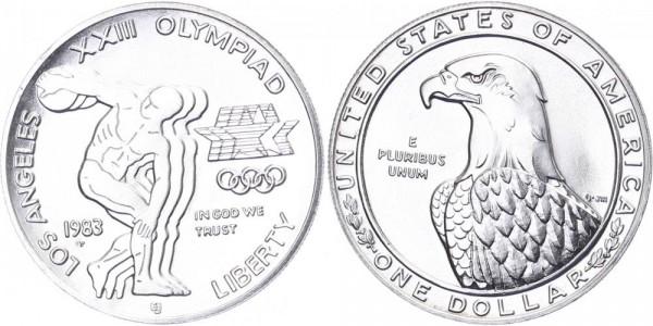 USA 1 Dollar 1983 P 23. Olympischen Spiele in L.A.