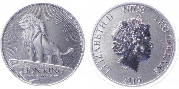 Niue 2 Dollars 2019 - Disney's König der Löwen