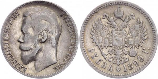 Russland 1 Rubel 1899 - Nikolaus II. 1894-1917