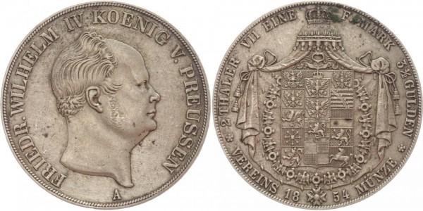 Preussen Doppeltaler 1854 A Friedrich Wilhelm IV