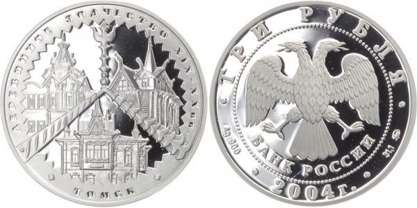 Russland 3 Rubel 2004 - Holzbauten