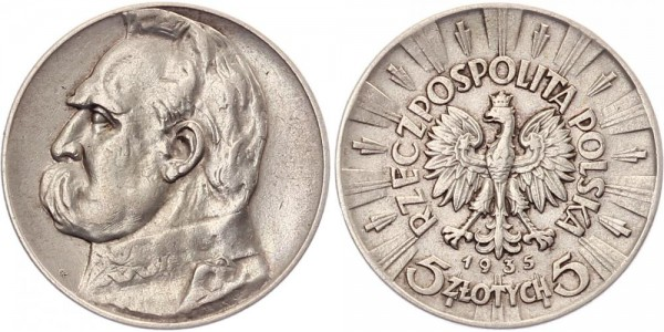 Polen 5 Zlotych 1935 - Jozef Pilsudski