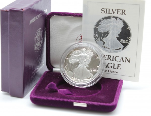 USA 1 Dollar 1989 S 1 Oz. American Eagle PP