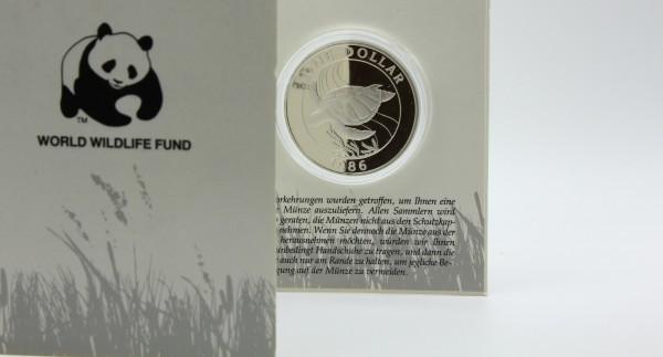 Bermuda 1 Dollar 1986 - Suppenschildkröte