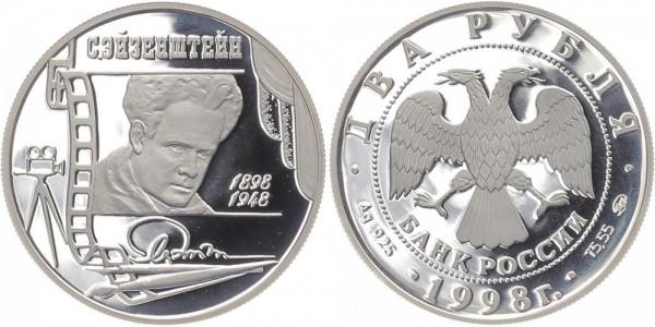 Russland 2 Rubel 1998 - S.M. Eisenstein