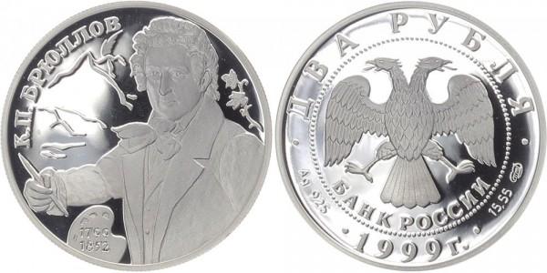 Russland 2 Rubel 1999 - Brullov