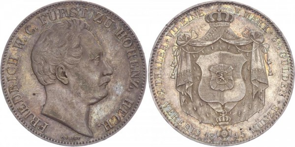 Hohenzollern-Hechingen Doppeltaler 1845 - Friedrich Wilh. Constantin