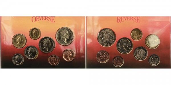 Australien Satz 1c-2$ 1989 - Kursmünze
