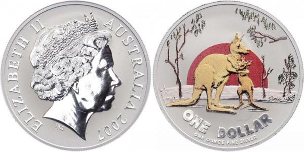 Australien 1 Dollar 2007 - Kangaroo