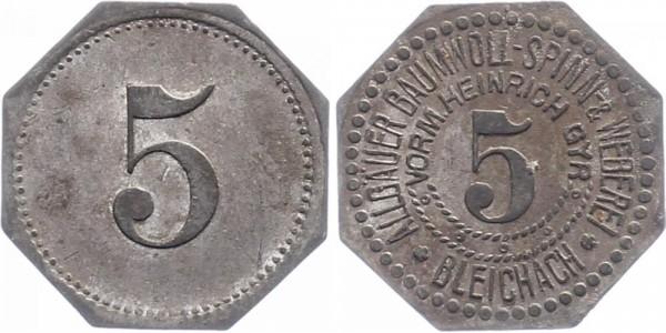 Bleichach 5 Pfennig o.D. - Allgäuer Baumwoll-Spinn- und Weberei