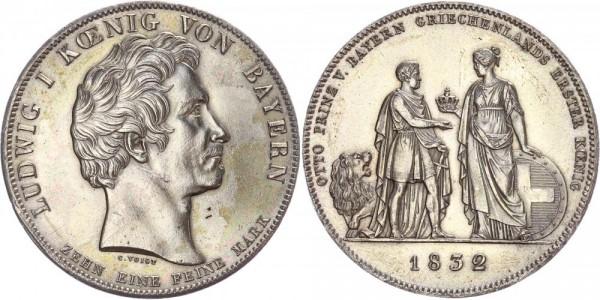 Bayern Geschichtstaler 1832 - Prinz Otto Griechenland