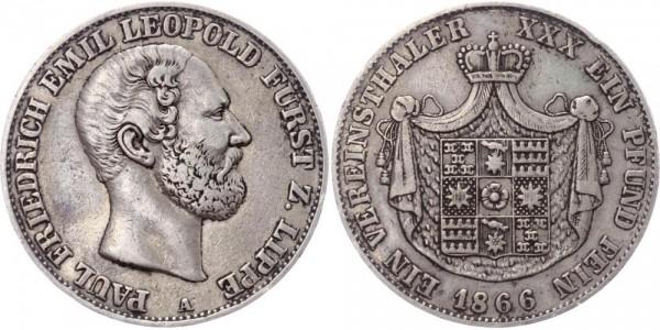 Lippe-Detmold Taler 1866 - Paul Friedrich Emil Leopold