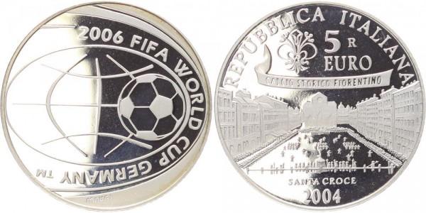 Italien 5 Euro 2004 FIFA Fußball-Weltmeisterschaft Deutschland 2006 PP