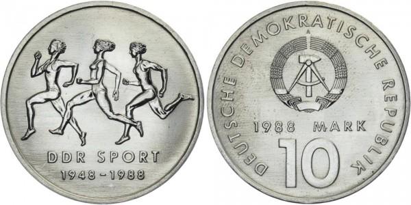 DDR 10 Mark 1988 A DDR Sport