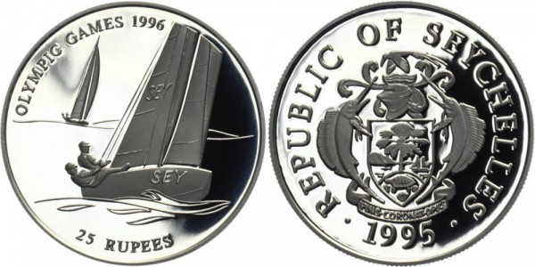 SEYCHELLEN 25 Rupien 1995 - Olympische Spiele