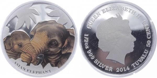 Tuvalu 50 Cents 2014 - Elefanten