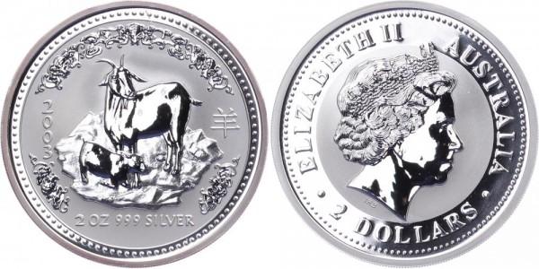 Australien 2 Dollars 2003 - Jahr der Ziege - Lunar Serie